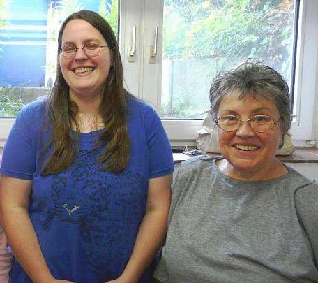 von links: Julia Rott, Karin Born