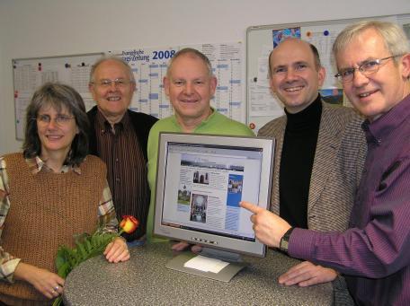 v.links n. rechts: Ursula Henning, Helmut Fritz,  Horst Schmidt, Dr. Hans-Jörg Wahl, Herbert Stellbrink